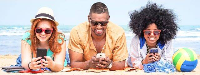 Eye care, young people on the beach wearing sunglasses in Katy, TX