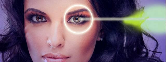 Optometrist, woman lasik surgery in West Lebanon, NH