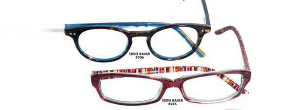 Eye doctor, pairs of Eddie Bauer eyeglasses in Delaware, Ohio
