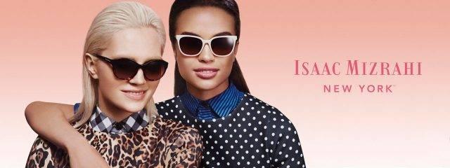 Optometrist, women wearing Isaac Mizrahi sunglasses in Delaware, Ohio