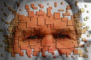 Abstract Older Man Eyes