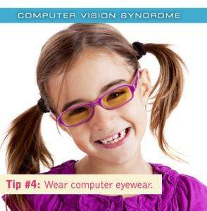 Colorado Springs eye doctor's computer vision syndrome Tip #4: Wear computer eyewear