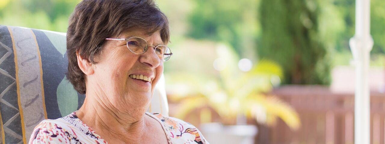 Eye doctor, senior woman smiling in Rocky Mount & Roanoke, VA