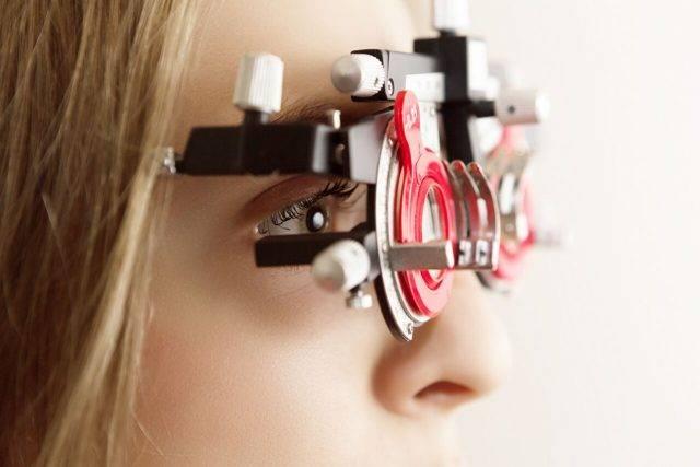Eye doctor, woman at an eye exam in Rocky Mount, VA
