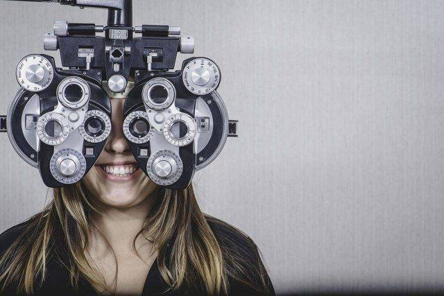 Eye doctor, woman at an eye exam in Paso Robles, CA