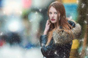 girl wearing winter coat