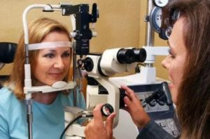 Eye doctor, woman at an eye exam in Copperas Cove, TX