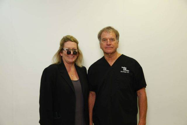 Dr. Fields with happy patient in Gulfport,MS