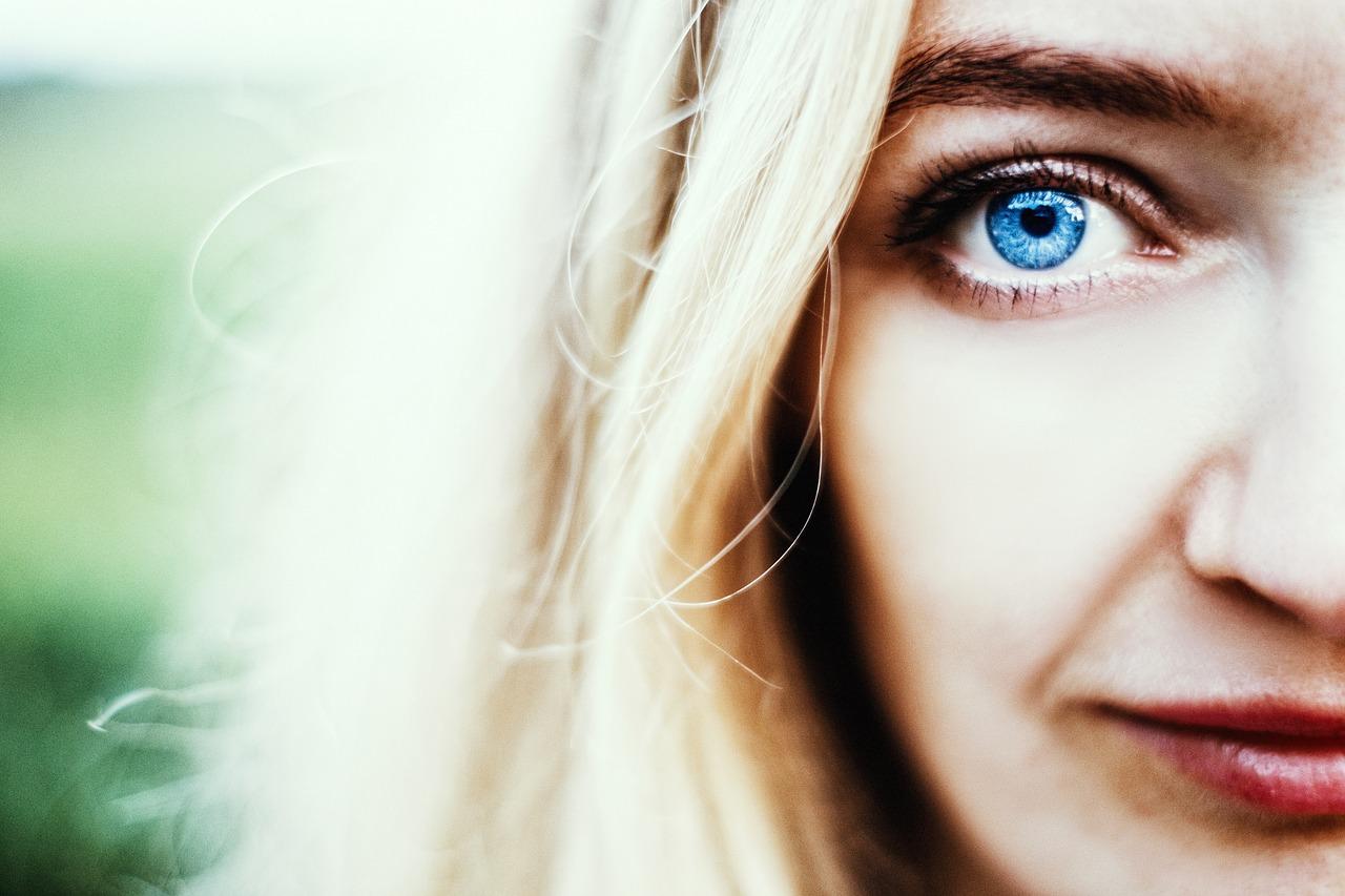 eyes blue close up woman