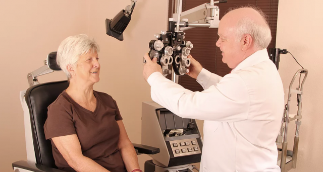 Dr Soto and patient - Sarasota eye exam