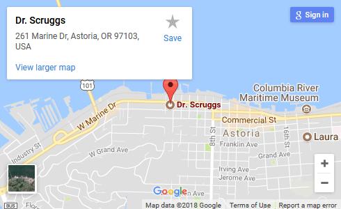 Astoria Vision Care map large