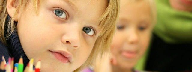 blonde haired child, optometrist in Billings, MT