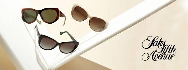 Optometrist, pairs of Saks Fifth Avenue sunglasses in Billings, Montana