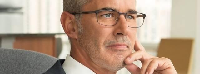 Optometrist, man wearing Michael Ryen eyeglasses in Billings, Montana