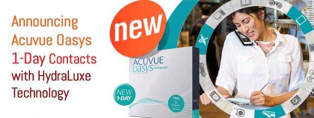 Eye doctor, acuvue box of contact lenses in Oconomowoc, Watertown and Pewaukee, WI