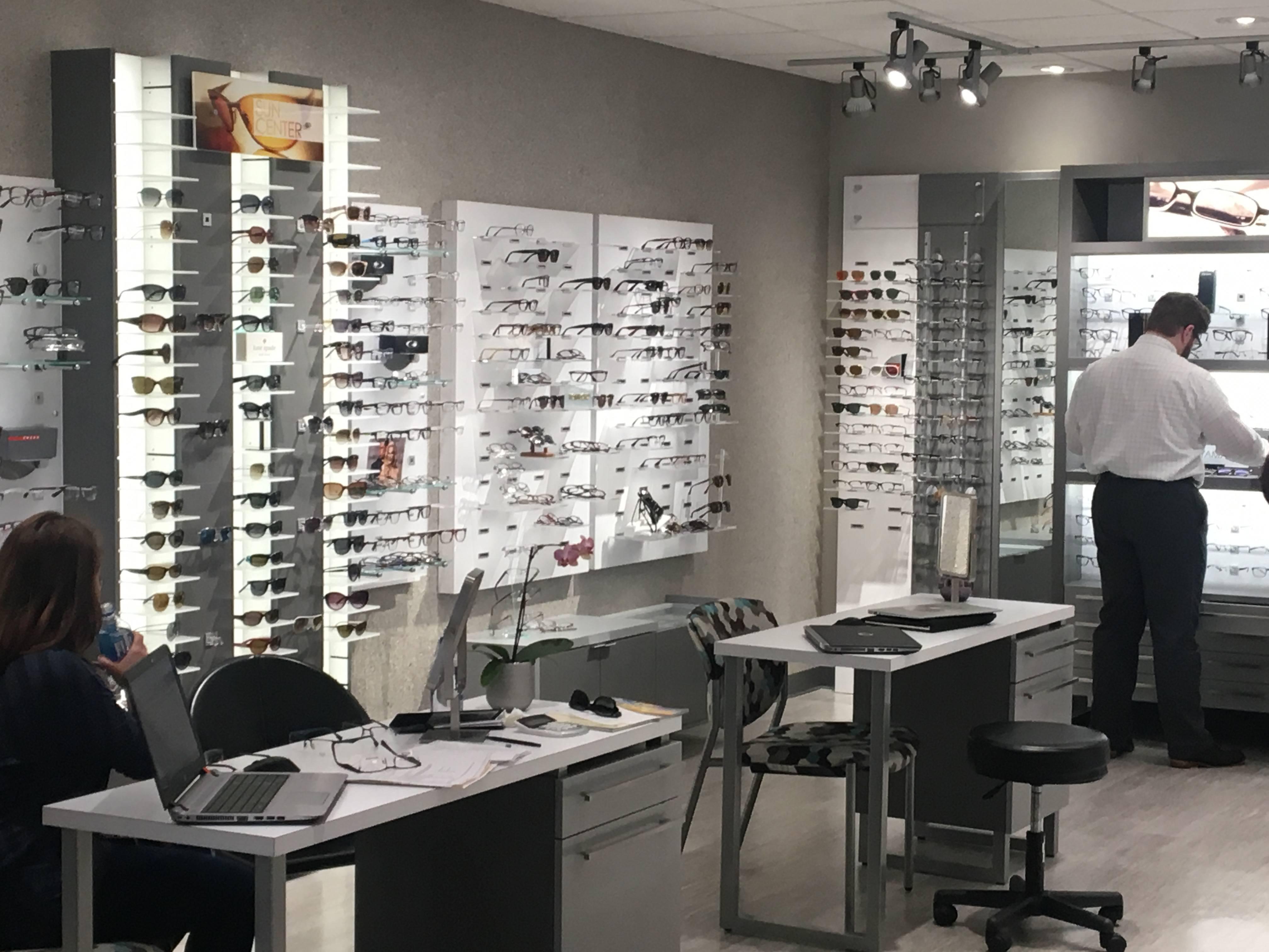 Optometrist, Eyeglasses Showroom in Dallas, TX.