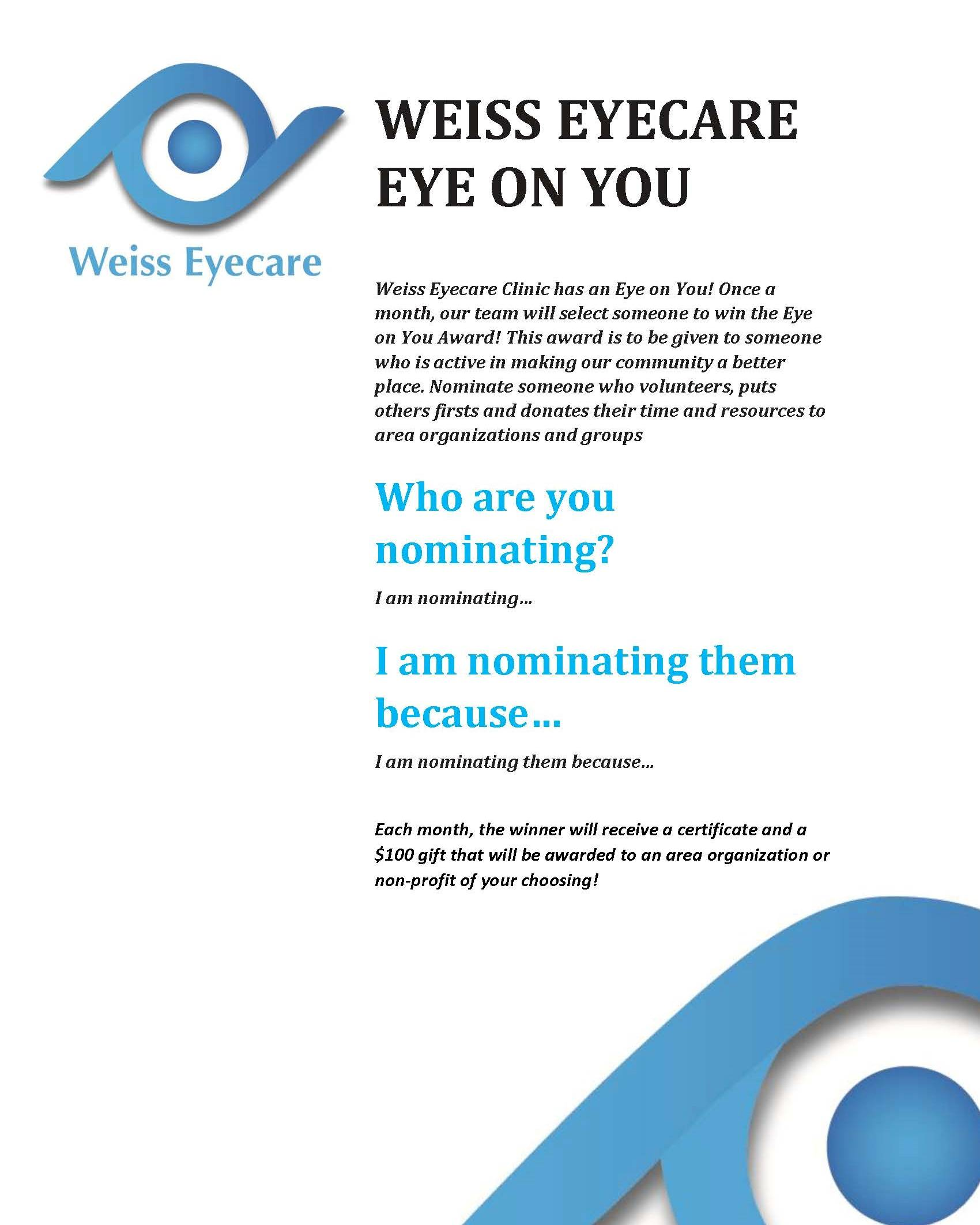 Eye on You flyer
