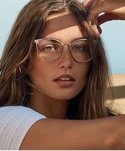 Model wearing Michael Kors glasses