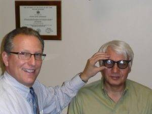Dr Schoenbart with a patient