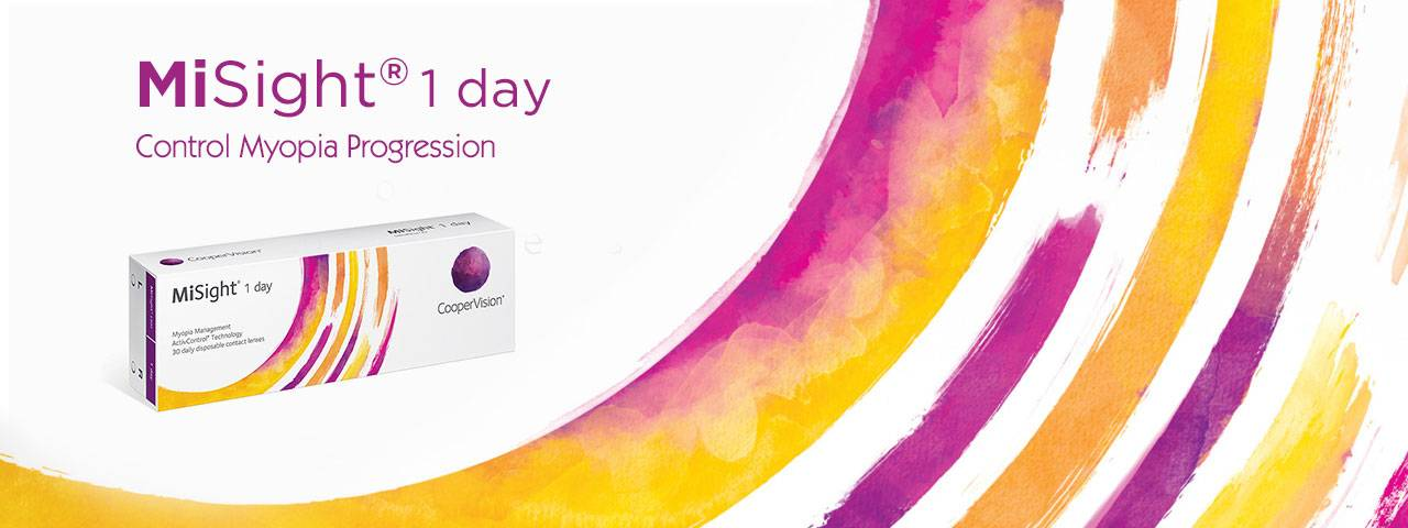 MiSight myopia control contact lenses by CooperVision