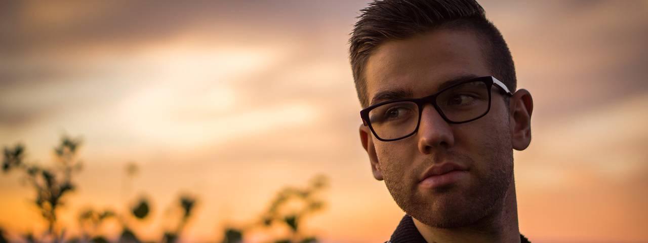 man_glasses_dusk
