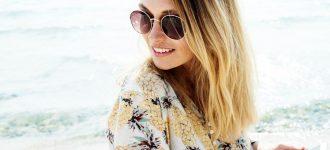 Woman wearing sunglasses in Albemarle