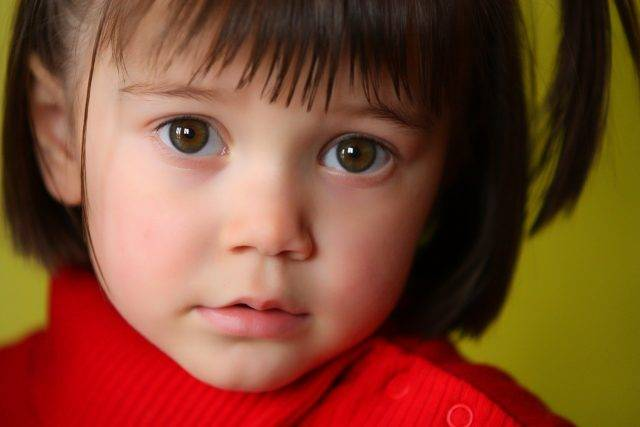 eye care, liitle girl in red, suffering from amblyopia in Tulsa, OK