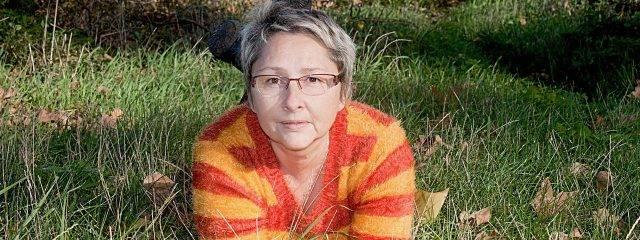Older Woman Glasses Grass 1280x480 640x240