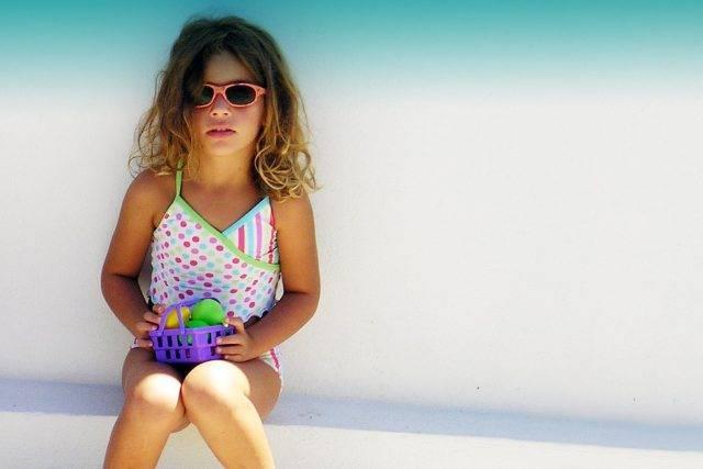 Child Female Wearing Sunglasses