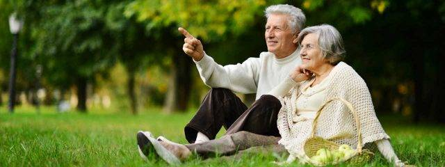 Elderly Couple With Macular Degeneration