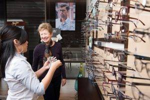 Our Friendly Opticians Help Select Eyeglasses in Sugar Land