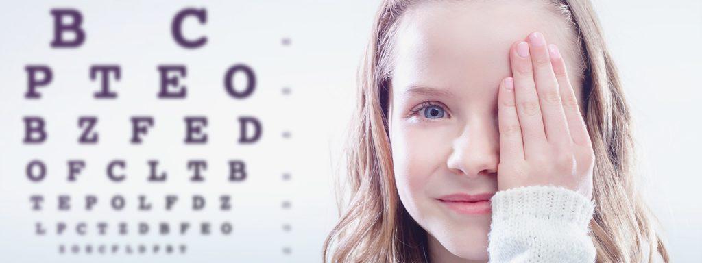 Girl eye exam in Sugar Land, TX