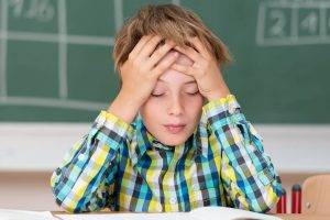 frustrated child in school