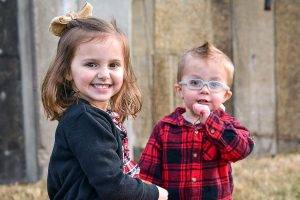 Young Sister and Brother Glasses