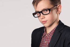 Teen Boy Blue Glasses