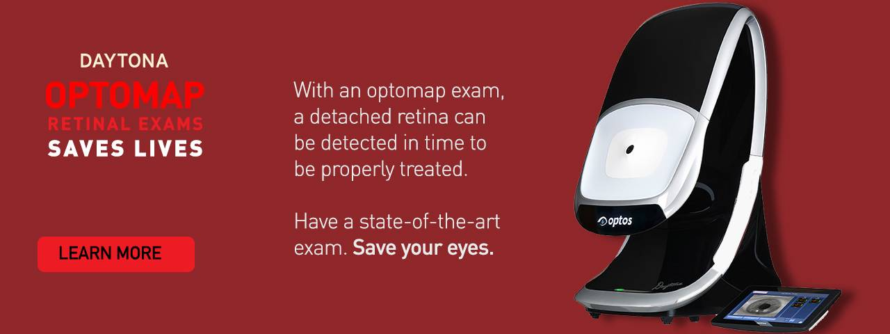 Ad for Optomap Retinal Exam