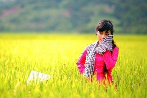 Girl in Wheat Filed