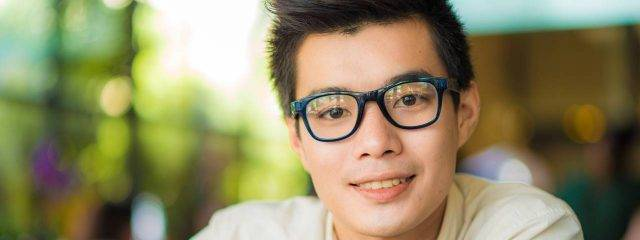 Optometrist, asian teenager wearing eyeglasses in Meridian, MS