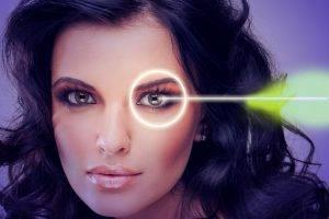Eye doctor, woman, lasik surgery in Atlanta, GA
