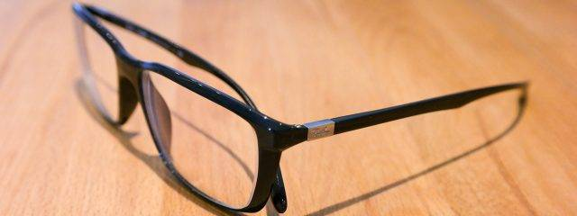 Optometrist, black frame eyeglasses in Jacksonville, Florida
