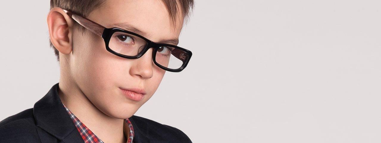 Eye doctor, boy wearing eyeglasses in North Miami Beach, FL