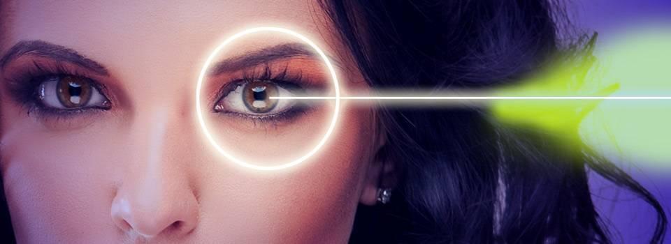 Eye doctor, woman, lasik surgery in North Miami Beach, FL