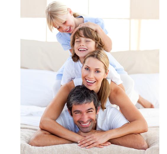 caucasian family pyramid cutout