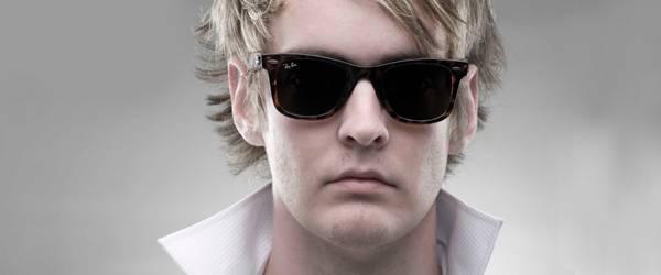 Man wearing Ray-Ban sunglasses