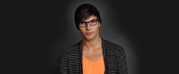 Man wearing Scott Harris glasses