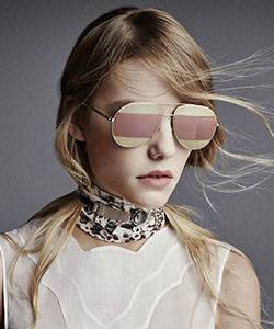 Model wearing Dior sunglasses