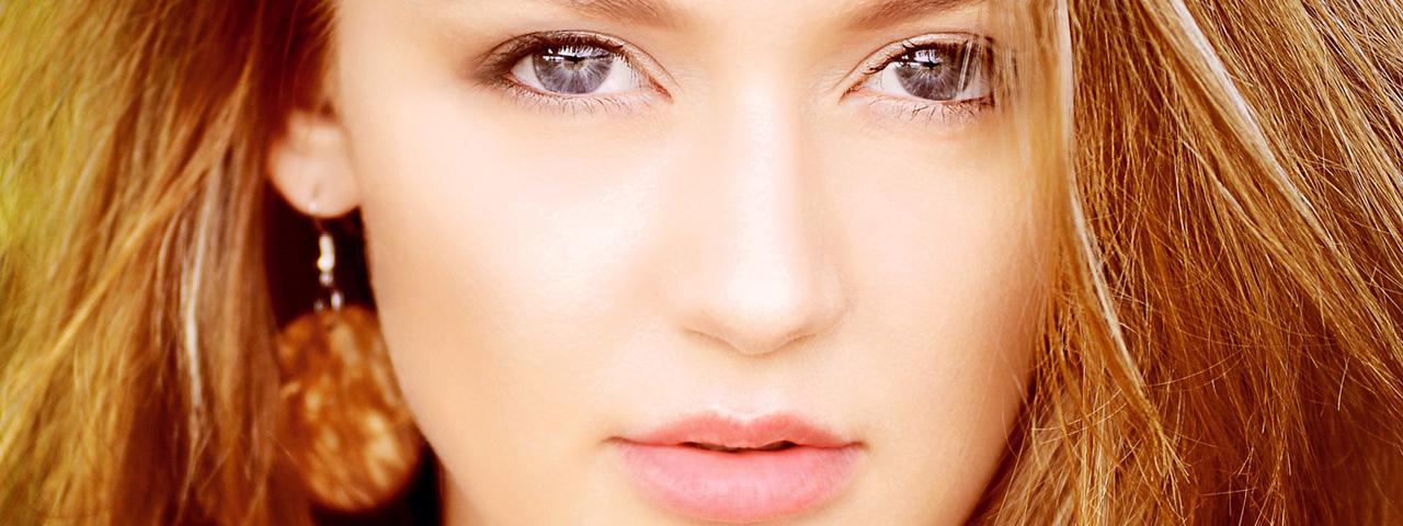 Woman Serious Pretty Eyes 1280×480