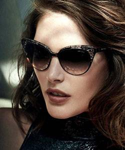 Model wearing Jimmy Choo sunglasses