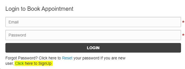 example login page
