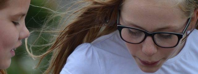 Optometrist, girl wearing prescription glasses in Redondo Beach, CA